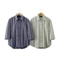 シャツ メンズ 七分袖 夏 匠しじら織七分袖シャツ 2枚組 レギュラーカラー 41182