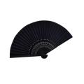 扇子 黒 女性用 葬礼用絹扇子 黒 収納袋付 3028