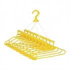 幸せの黄色いハンガー10連式 アイデア 便利