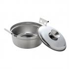 ステンレス鍋 両手鍋 14cm 蓋付き フタ付き 一人鍋 日…
