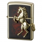 zippo ジッポーライター ゴールドプレート馬 ウィニン…