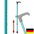 杖 ステッキ ドイツ製リハビリ用ステッキ(ターコイズ…