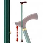 杖 伸縮 軽量 伸縮杖 伸縮型杖 愛杖 ストラップ付き E-…