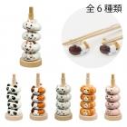箸置き 陶器 動物 ドーナツ箸置 うさぎセット 056777