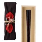 箸 最高級箸 若狭塗 縞黒檀 24.0cm 匠 縞黒檀 四方面縞…