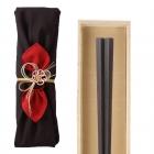 箸 最高級箸 若狭塗 縞黒檀 24.0cm 匠 縞黒檀 五角縞黒…