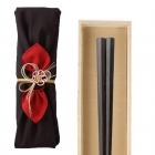 箸 最高級箸 若狭塗 縞黒檀 24.0cm 匠 縞黒檀 七角縞黒…