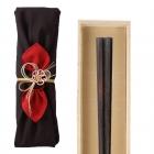 箸 最高級箸 若狭塗 縞黒檀 24.0cm 匠 縞黒檀 八角縞黒…