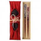 夫婦箸 結婚祝い 桐箱 箸 ペア 二膳セット 粋柄 けずり…