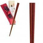 箸 漆塗り箸 日本製 22.5cm 越前塗箸 細角箸 刷毛目 塗…