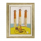 絵画 絵 インテリア 玄関 サムトフト 海辺のサイクリン…