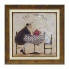 絵画 絵 アート アートフレーム サムトフト 2人でお茶…