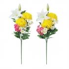 仏花 造花 仏壇 墓前用仏花 1対