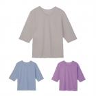 Tシャツ tシャツ レディース 夏 アイスコットン七分袖T…