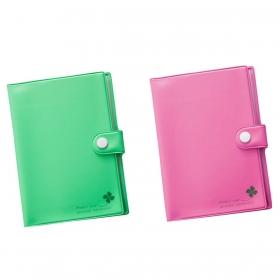 通帳 カードケース 通帳4枚 カード4枚 スキミング防止 通帳・カードシールドケース ブック型 全2種類