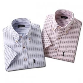 メンズ 紳士用 半袖 綿100% FCサッカーシャツ2枚組 ストライプ 40676