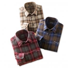 カジュアルシャツ メンズ 長袖 秋冬 FC ウール混 暖かシャツ3枚組 41079