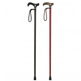 杖 一本杖 軽量 カーボン 愛杖 C-201 黒壇巻き ストラップ付き