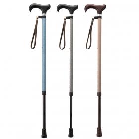杖 光る 反射 伸縮杖 伸縮型杖 愛杖キラリ KR-1 ストラップ付き