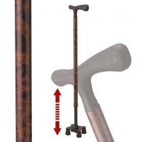 リハビリ用杖 伸縮型杖 スリム四点杖 SSS-13