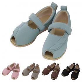 介護シューズ リハビリシューズ 介護靴 施設用 シューズ オープンマジックII1015(ピンク)