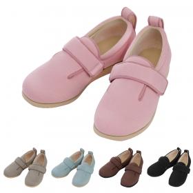 介護シューズ リハビリシューズ 介護靴 施設用 シューズ ダブルマジックII1017(ピンク)