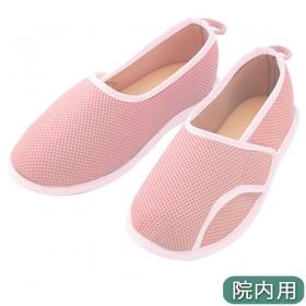 介護靴 施設 室内用 院内用 シューズ 早快マジック レギュラー ピンク
