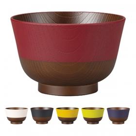 お椀 汁椀 木目 日本製 割れない 食洗機対応 電子レンジ対応 日本伝統色 羽反 塗分汁椀