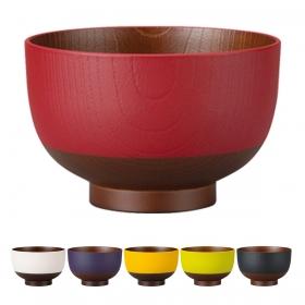 お椀 汁椀 木目 日本製 割れない 食洗機対応 電子レンジ対応 日本伝統色 京型 塗分汁椀