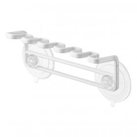 歯ブラシホルダー 吸盤 壁 吸盤歯ブラシホルダー 5連 ミスト ホワイト