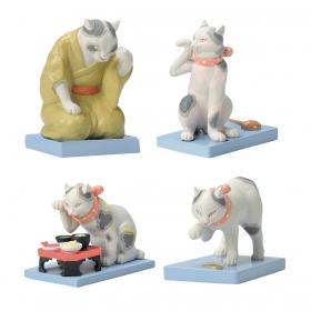 オーナメント 置物 猫 グッズ 雑貨 和 えどの猫 オーナメント 猫舌 猫に小判 猫の尻に才槌 猫を囲え 全4種類