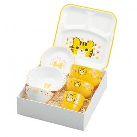 出産祝い 食器セット 子供用 キッズ 食洗機対応 食洗器対応 レンジ対応 山中塗 ハグミー7点セット トラ Y15246-3