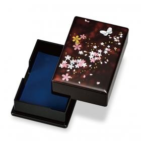 カードケース 名刺入れ 名刺ケース 和風 山中塗 桜さくら 名刺入 M15928