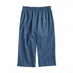 高島ちぢみ ポケット付 ゆったり ステテコ 綿100% 男性用 グレイッシュブルー