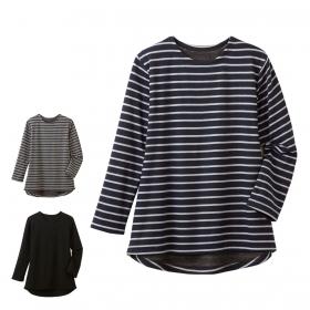 チュニック 秋冬 シャツ 裏起毛 まるで毛布のような裏起毛チュニック 全3色 M-3L
