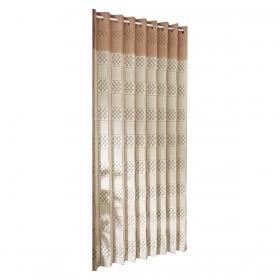アコーディオンカーテン つっぱり 冷房 エアコン 間仕切り フリーカット アコーディオ間仕切り ベージュ×モカ 250cm 216290
