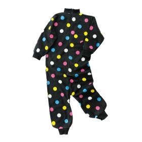着ぐるみ パジャマ 子供 フリース だんらんウェア ドット柄 SS-Sサイズ 1-006-762