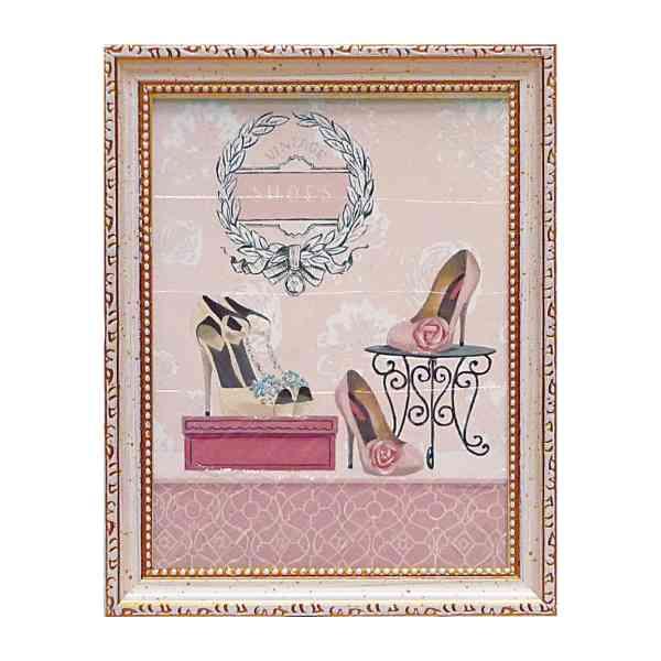 アートパネル ミニアート ウォールパネル インテリアパネル 絵画 インテリア かわいい 玄関 インテリア 玄関 マルコファビアノ ヴィンテージ シューズ MA-02537 アートフレーム