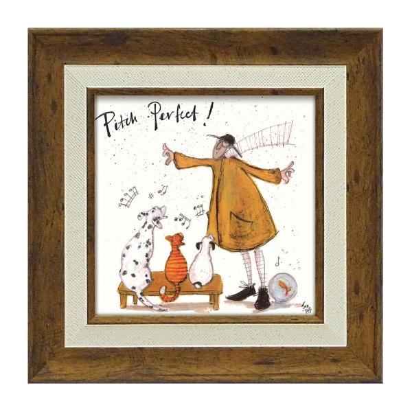 アートパネル アートフレーム ミニアート ミニサイズ 小さい 絵画 絵 壁掛け サムトフト イギリス作家 ウォールパネル インテリアパネル おしゃれ 絵画 絵 アートボー ド インテリア パーフェクト! 玄関 ほっこり 癒し 犬 イヌ いぬ ドッグ