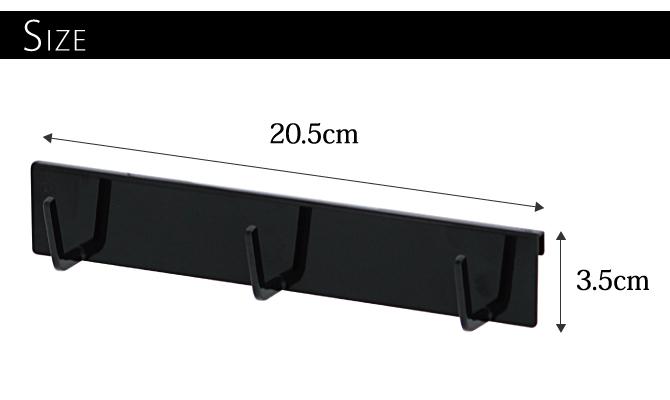 キッチンツールフック キッチン収納 自立式メッシュパネル用 フック3連 タワー 白い 黒 tower